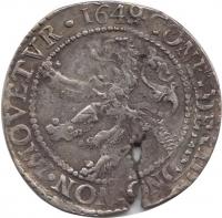 Zeeland ½ Leeuwendaalder 1649 uit 1648