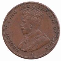 Straits Settlemants ½ Cent 1916