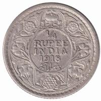 India British ¼ Rupee 1918