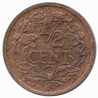 Nederland ½ Cent 1922 uit 1921 Unc.