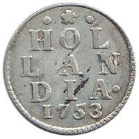 Holland Duit 1753 in Zilver
