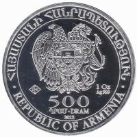 500 Dram 2012 1oz Zilver