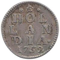 Holland Duit 1752 in Zilver