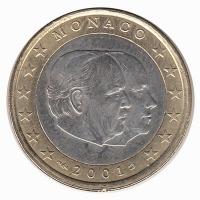 Monaco 1 Euro 2001 Unc