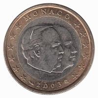 Monaco 1 Euro 2003 Unc