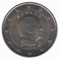 Monaco 2 Euro 2009 Unc