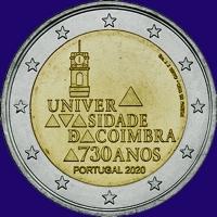 Portugal 2 euro 2020 I Unc