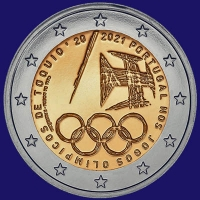 Portugal 2 euro 2021 II Unc