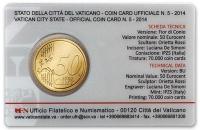 Vaticaan Coincard nr. 5 2014
