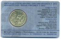 Vaticaan Coincard nr. 3 2012