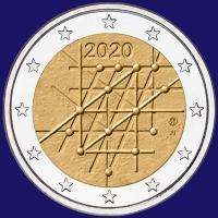Finland 2 euro 2020 I Unc