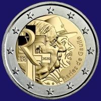 Frankrijk 2 euro 2020 I Unc