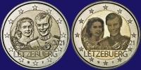 Luxemburg 2 euro 2021 II Unc Relief & Foto Variant