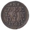 Zeeland Duit 1741 afslag in zilver