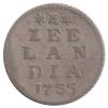 Zeeland Duit 1755 afslag in zilver