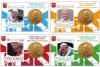 Coincard nr. 10 t/m 13 2016 met zegel