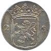 Utrecht Dubbele wapenstuiver 1794 met kabelrand!