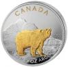 "Canada Maple Leaf 2011 Canadian Wildlife ""De Grizzly"" Gilded"