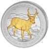 "Canada Maple Leaf 2013 Canadian Wildlife ""De Antilope"" Gilded"