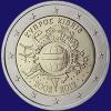 Cyprus 2 euro 2012 Unc