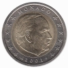 Monaco 2 Euro 2001 Unc