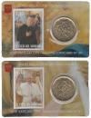 Vaticaan Coincard nr. 30 en 31 2019 met zegel