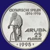 Aruba 25 Florin 1995 I Proof zonder ringen